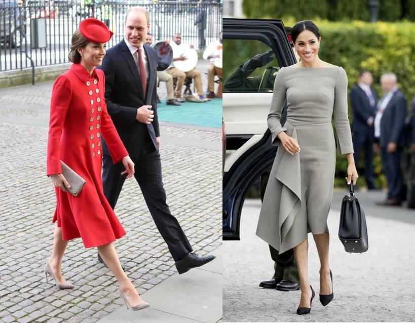 Королевская мода: 5 основных различий между стилями Кейт Миддлтон и Меган Маркл