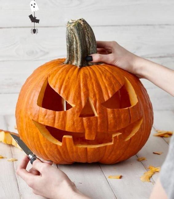 Мои дети обожают хэллоуинские тыквы: мы делаем их сами, используя шаблоны