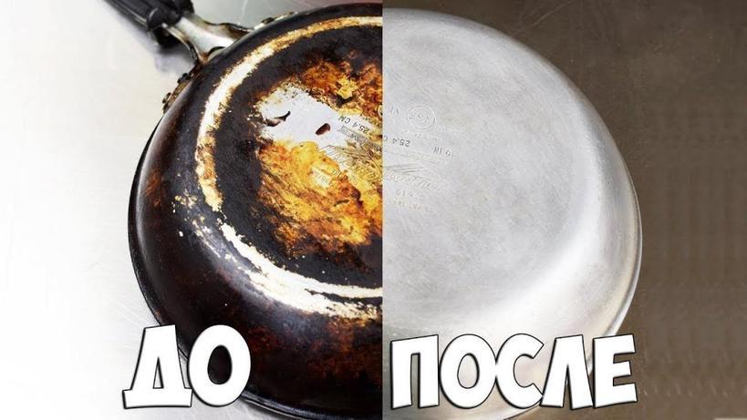 Сковороду, в которую нагар буквально въелся, я легко довела до блеска, используя клей ПВА и мыло