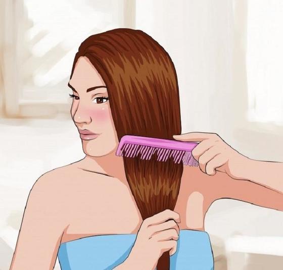 Волосы можно выпрямить, просто расчесав их. Естественные способы сделать локоны идеально прямыми