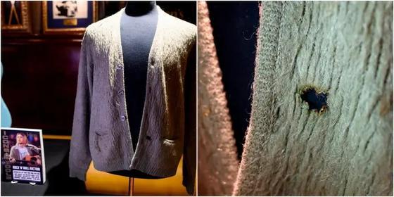 Знаменитый нестираный кардиган Курта Кобейна продан за рекордные 334 000 $