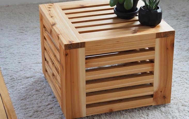 Просто, функционально и очень стильно: как сделать журнальный столик в виде куба из натурального дерева