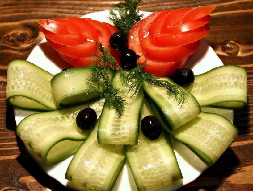 Создаем шедевры на кухне. Скатерть-самобранка: как красиво нарезать овощи на праздничный стол