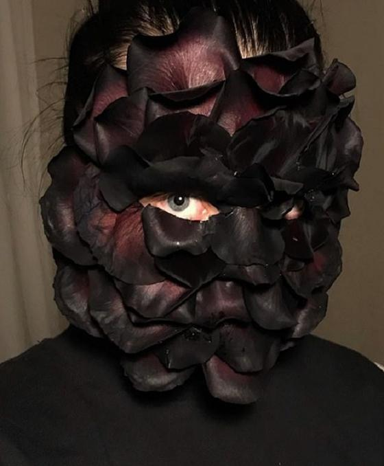 Редиска на лице — это искусство: дизайнер Катя создает необычные работы, украшая моделей цветами и овощами