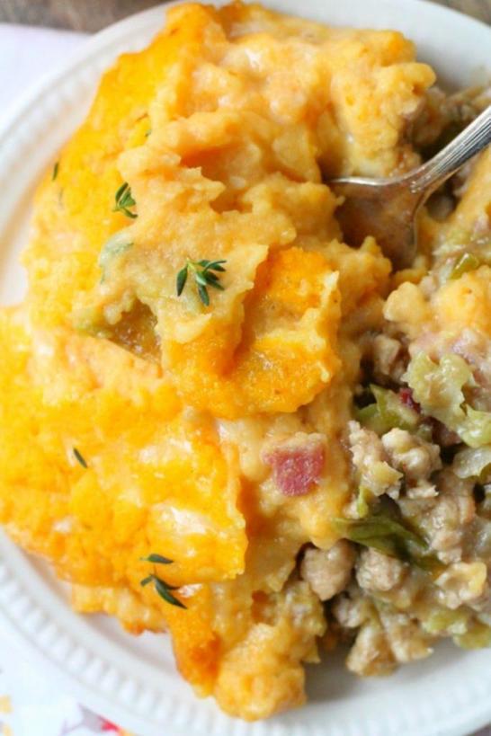 Фирменное блюдо американской кухни: пастуший пирог с тыквой. Вкусно, полезно и сытно