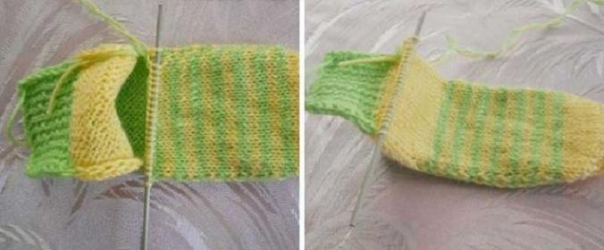 Вяжем на зиму носки на двух спицах: бесшовные, теплые и очень удобные