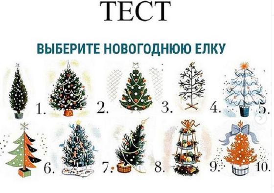 Новогодний тест: выбрав понравившуюся елку, мы можем узнать свою характеристику