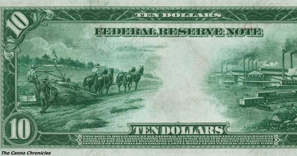 100 лет назад на 10 долларовой купюре были изображены конопля и фермеры