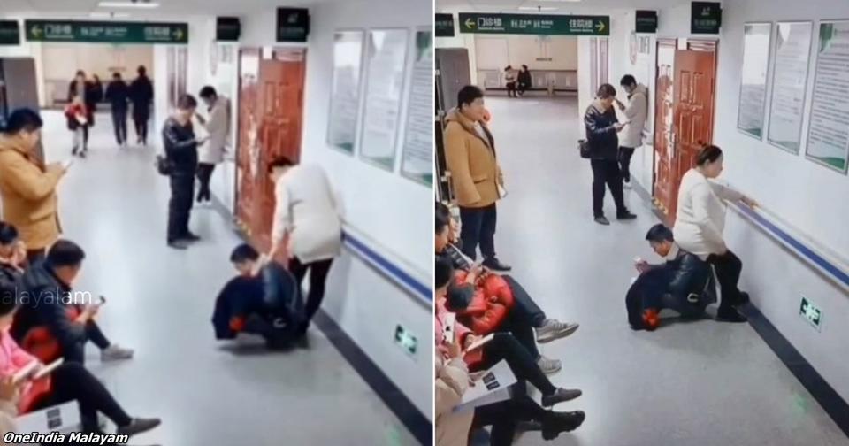 Муж стал «стулом» для своей жены, чтобы она могла хоть немного отдохнуть