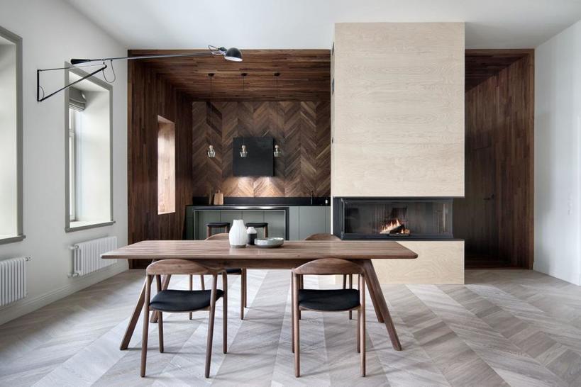 Классический паркет или сланцевая плитка: выбираем пол с рисунком елочка для кухни
