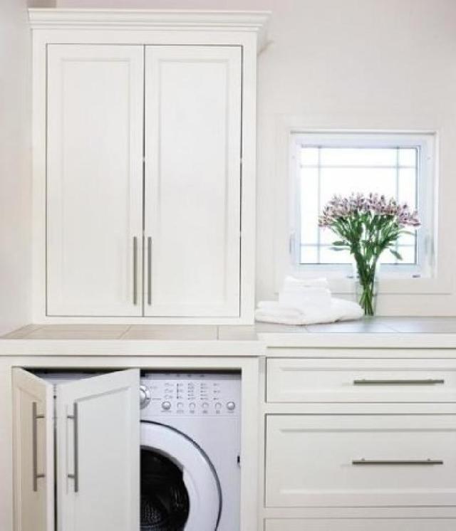 Советы от дизайнеров: интересные идеи   куда спрятать стиральную машину