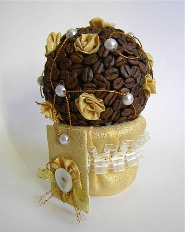 Для любителей порукодельничать: мастер класс по изготовлению кофейного дерева