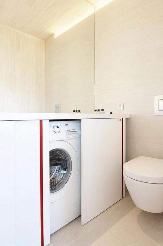 Советы от дизайнеров: интересные идеи - куда спрятать стиральную машину