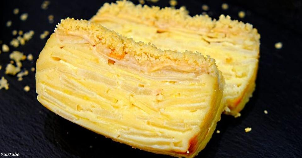 Яблочно грушевый пирог, где даже тесто — как крем