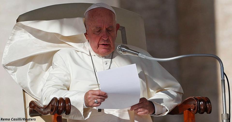 Папа: «Страны, которые говорят о мире и продают оружие, — лицемеры»