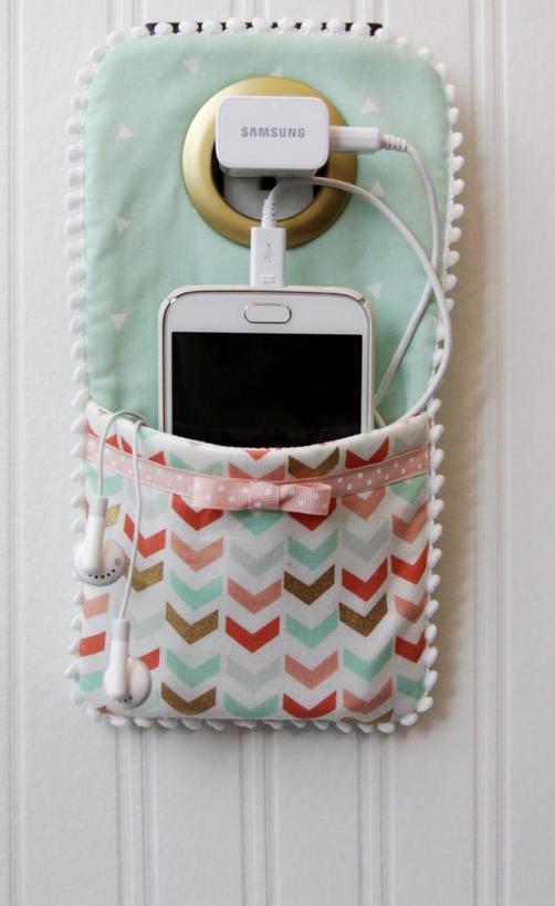 Полезная штука: как сшить милый чехол держатель для зарядки телефона
