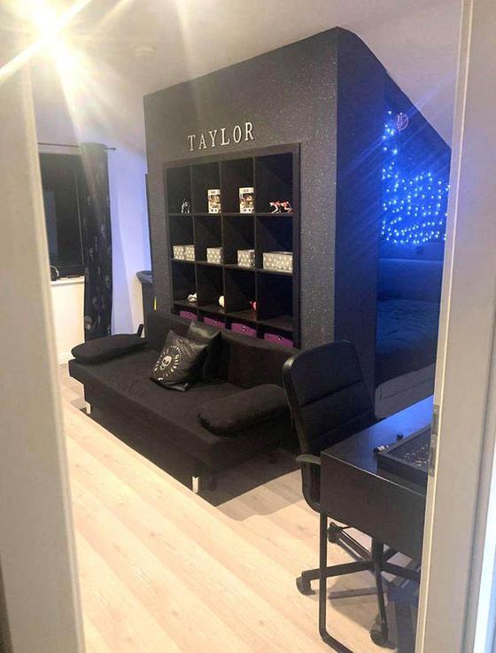 38-летняя Кэти Ховард создала великолепную комнату в космическом стиле для своей дочери, используя дешевые материалы