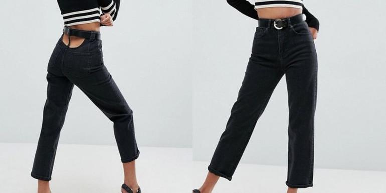 Высокая талия и открытая спина: некоторые модели джинсов больше похожи на шутку, но их уже можно приобрести