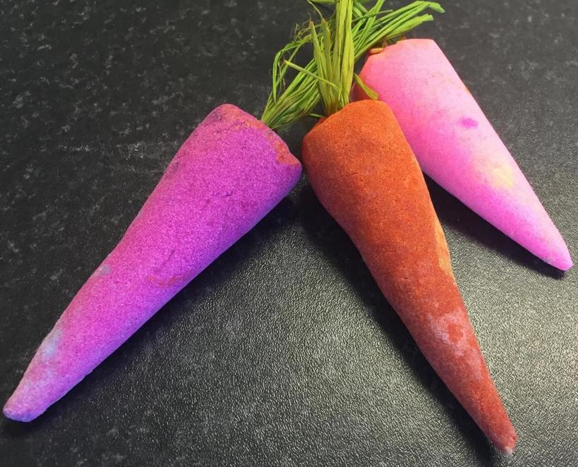 Ярко и оригинально: в преддверии весны я запасаюсь милыми бомбочками для ванны  Морковка