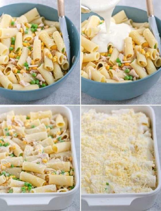 Попробовала легкую и быструю пасту с тунцом, кукурузой, сыром и белым соусом: просто пальчики оближешь