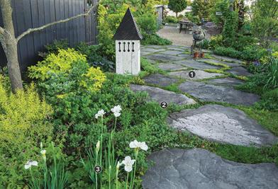 Простые лайфхаки для искусственного ландшафта в вашем саду: выбираем большие камни, а проемы между ними заполняем зеленью