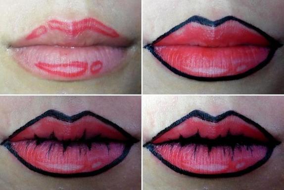 Сидя на карантине, можно поэкспериментировать с косметикой: губы в стиле поп-арт, тени R2D2 и макияж в стиле Бэмби