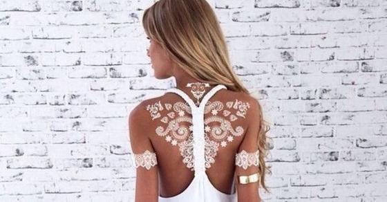 Роспись по телу белой хной: новый тренд этой весны