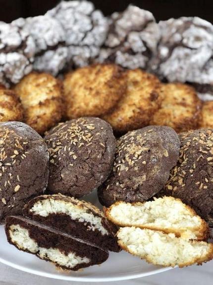 Нежное кокосовое печенье с шоколадом по рецепту моей мамы: приготовление займет не более 30 минут