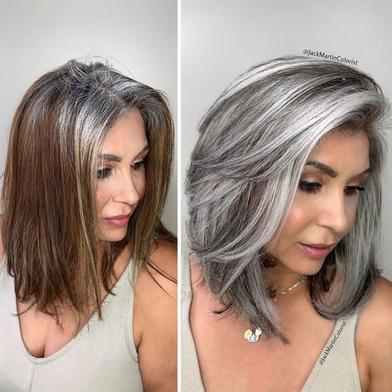 Любовь к своим волосам дарит свободное время. Колорист делится фотографиями своих клиенток, которые теперь ценят седину