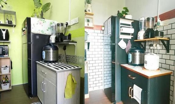 У женщины не было денег на ремонт, и она решила поменять обои на кухне – результат превзошел ожидания (фото до и после)