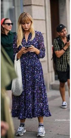 Кроссовки и платье – комбинация, победившая стереотипы моды. Несколько примеров, как использовать такое сочетание (фото)