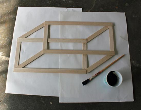 Муж придумал и сделал дома декоративную настенную геометрическую фигуру: она объемная и очень привлекает внимание