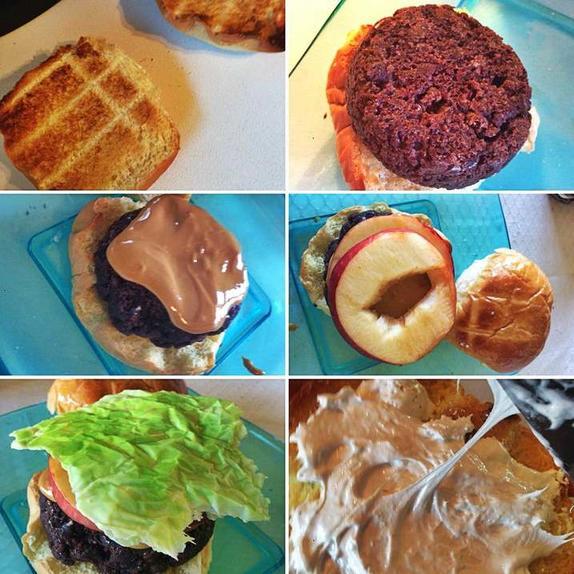 Гамбургер, который нужно кушать с чаем: рецепт необычного пирожного в форме любимого фастфуда