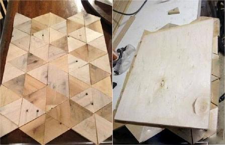 Взяла кусок фанеры, старую банкетку, которая пылилась на улице, и сделала оригинальный уличный столик
