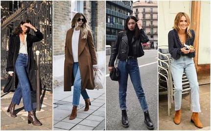 Решили обновить гардероб к осени? Завышенная талия и ботинки лодочки на каблуке: как правильно сочетать джинсы и обувь