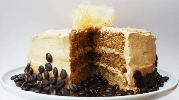 Кофе, соленая карамель, корица   идеальное сочетание в простом в приготовлении торте