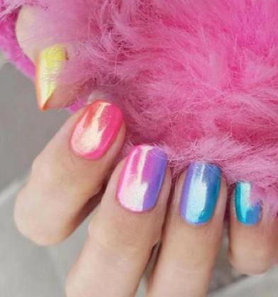 Яркие ногти в стиле Skittles стали новым трендом в маникюре