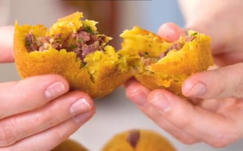 Тыквенные фрикадельки с мясной начинкой: по осени наготавливаю таких впрок и замораживаю на всю зиму