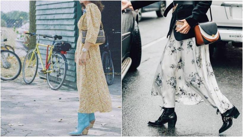 Сапоги + платье: дизайнер показала беспроигрышные комбинации