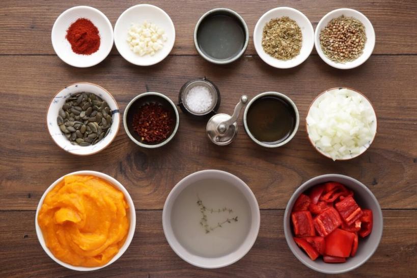 Тыквенный суп с ароматными специями. Готовится быстро, съедается еще быстрее
