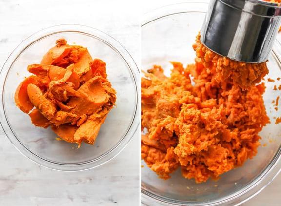 Нашла рецепт вкусного и сытного ужина: запеканка из сладкого картофеля с орехами