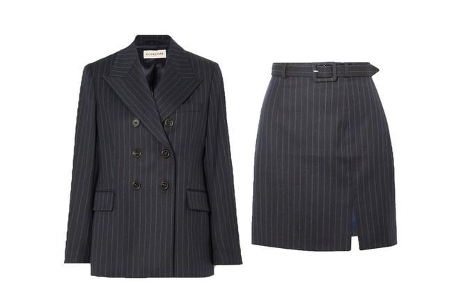 Идеи лучших офисных костюмов с юбкой на осень 2020 от Vogue
