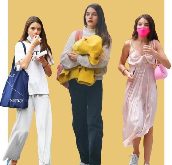 Юная модница звездных родителей: простой, но эффектный стиль дочери Тома Круза и Кэти Холмс
