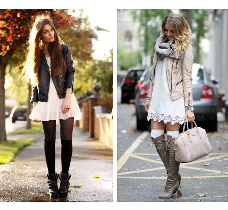 Модные тренды осени: как носить колготки, а также гольфы и носки
