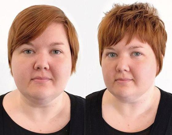 Оптическое  похудение : стоит правильно подобрать прическу, и все друзья будут просить название диеты