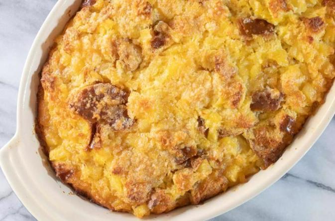Простая ананасовая запеканка из 5 ингредиентов (подаю ее к мясным блюдам)