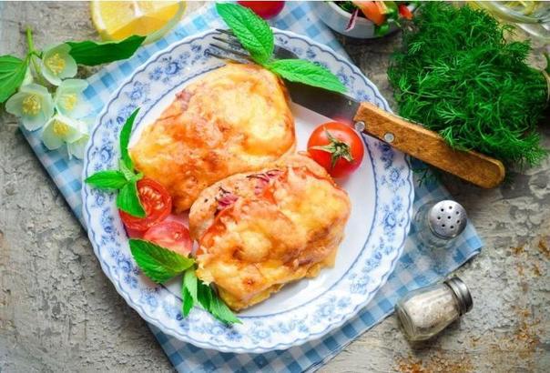 Идеальная куриная грудка в духовке, сочная и нежная. Готовлю с моцареллой и помидорами