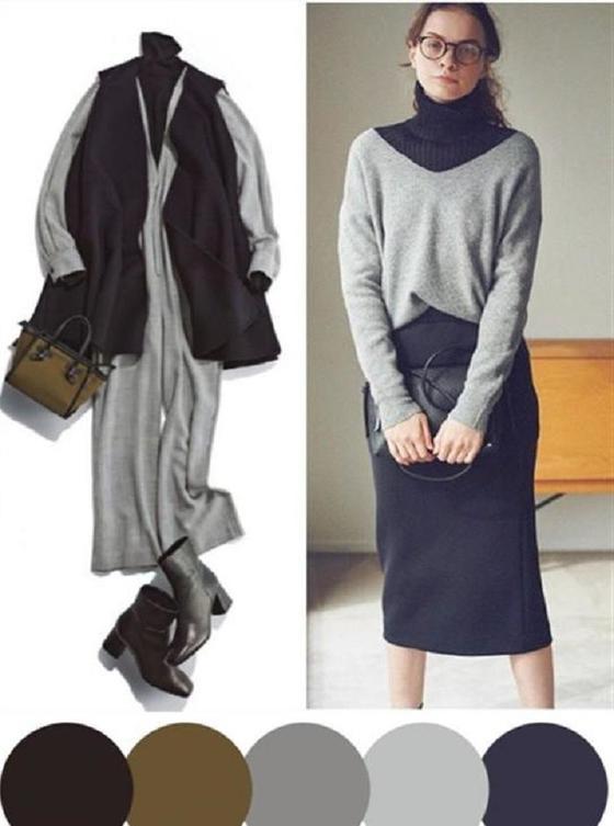 Сложно ли подбирать одежду по цветам с приходом зимы? Гайд для женщин, который поможет сочетать вещи и создавать гармоничные образы