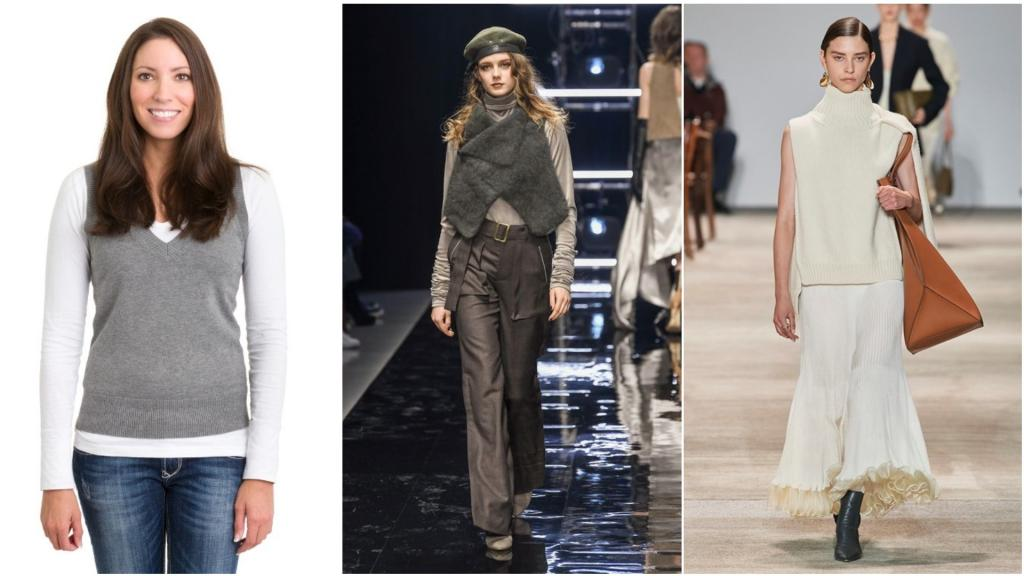 Сразу модный вид: как современно и элегантно носить свитер без рукавов
