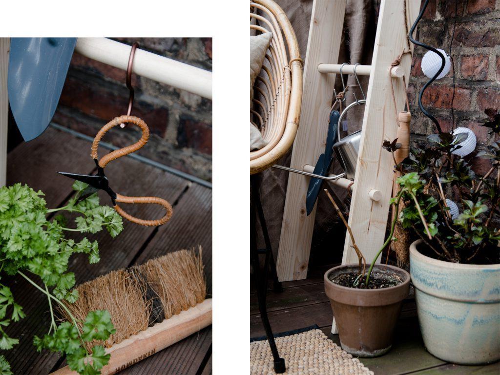 Декоративная лестница для хранения цветочных горшков: экономит место и делает интерьер более уютным